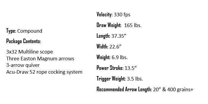 Wicked Ridge Invader G3 Specifications